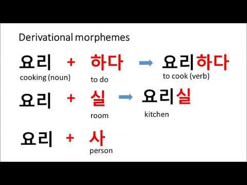 Korean Morphemes - YouTube