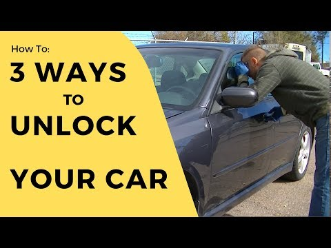 How to unlock a car door (without a key)