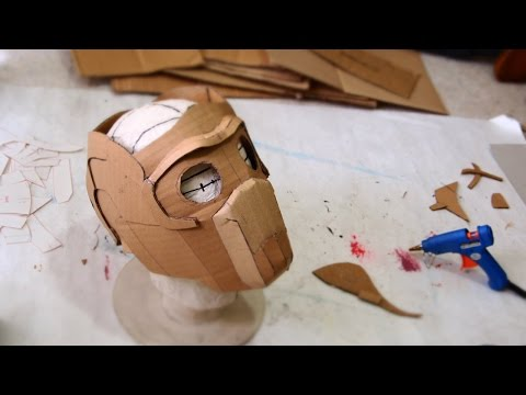 How to make Star-Lord Mask Part 1 -  Cardboard (PDF template)