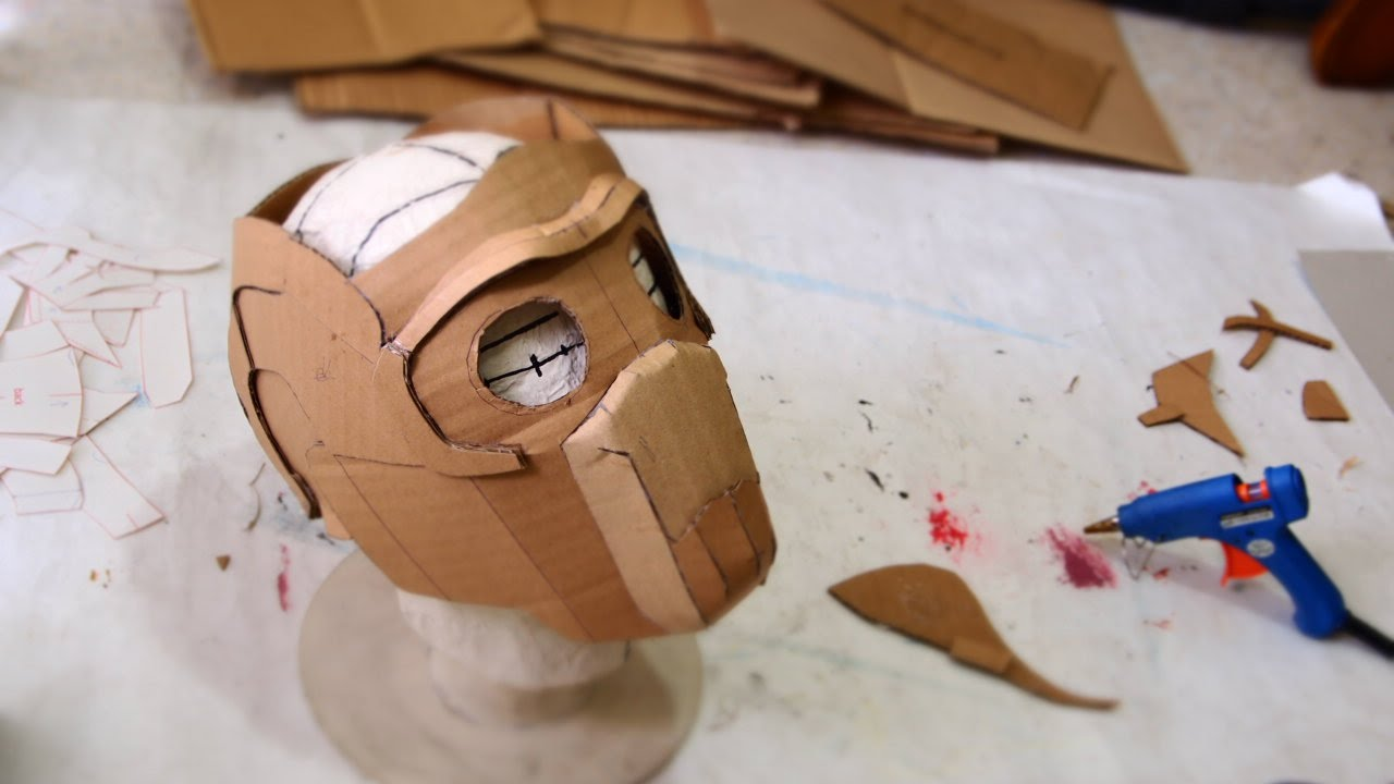 66 star lord mask part 1 cardboard free template how to dali