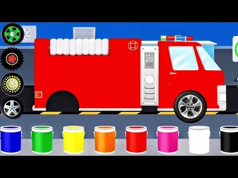 Cars Factory - Build Car, Police Car, Fire Truck | Car Driving - Videos For Kids