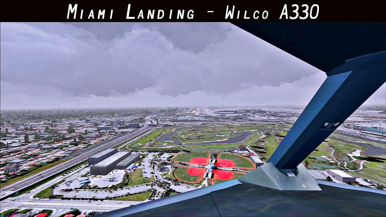 FSX 2015 - Cloudy Windy Miami Landing - Airbus A330 - Cockpit View - Virgin  Atlantic