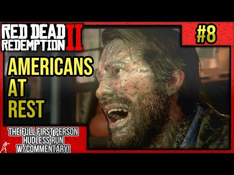 "Red Dead Redemption 2: First Person Mode No HUD Walkthrough Part 8 ""Americans at Rest"" w/Commentary thumbnail"