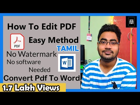 How To Edit And Convert A Pdf Document Free In Tamil (2019) | Master Technical