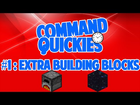 Command Quickies #1 - Extra Building Blocks