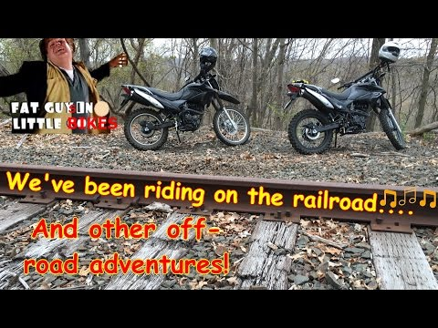 RR Tracks and trails with Vee on the Hawk 250's