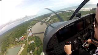 Landing in Mukomuko, Sumatra, Indonesia - Susi Air Cessna Grand Caravan C208B   SeatbeltsFastened