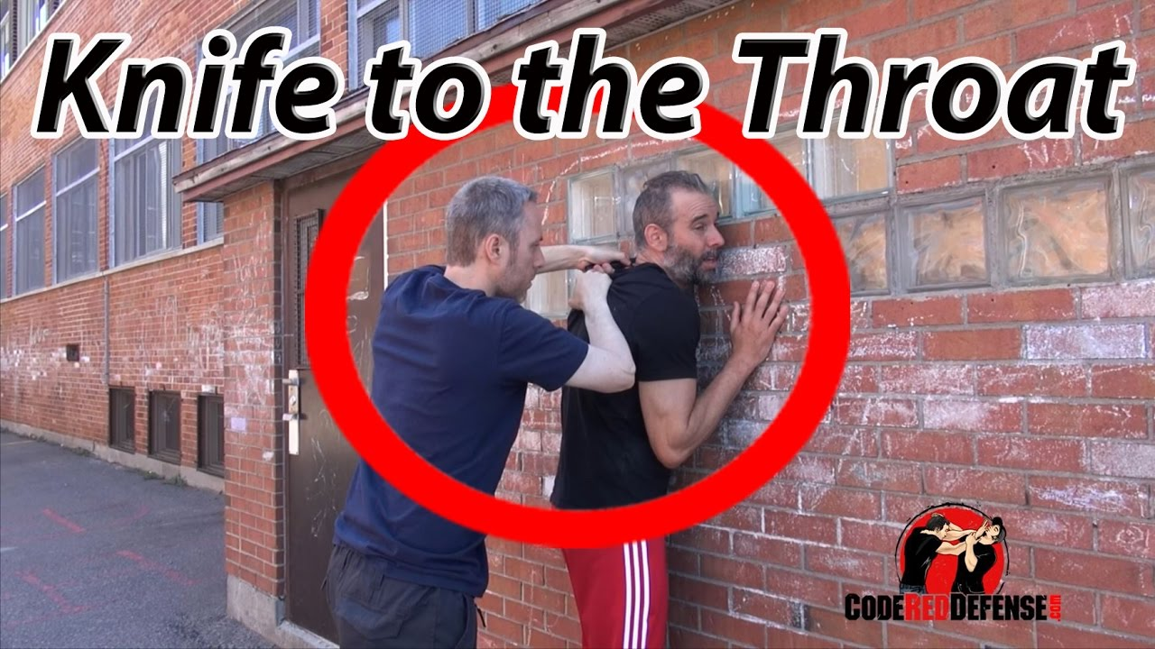 How to Defend against a Knife to Throat Krav Maga
