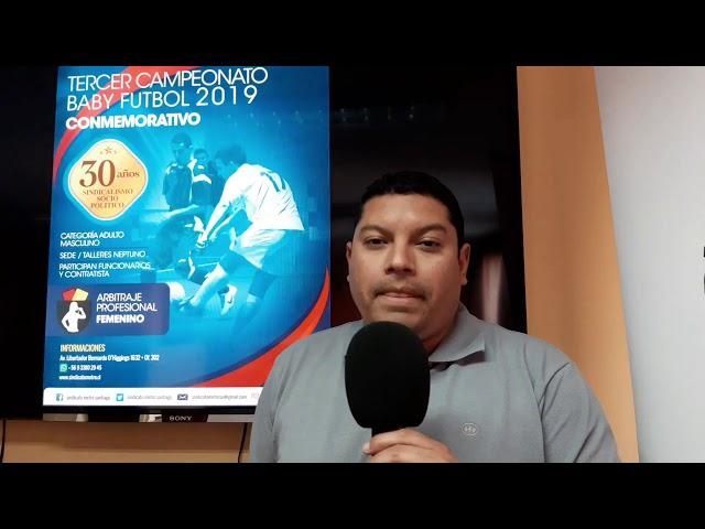 Invitación 3er Campeonato Baby Fútbol Sindicato Metro