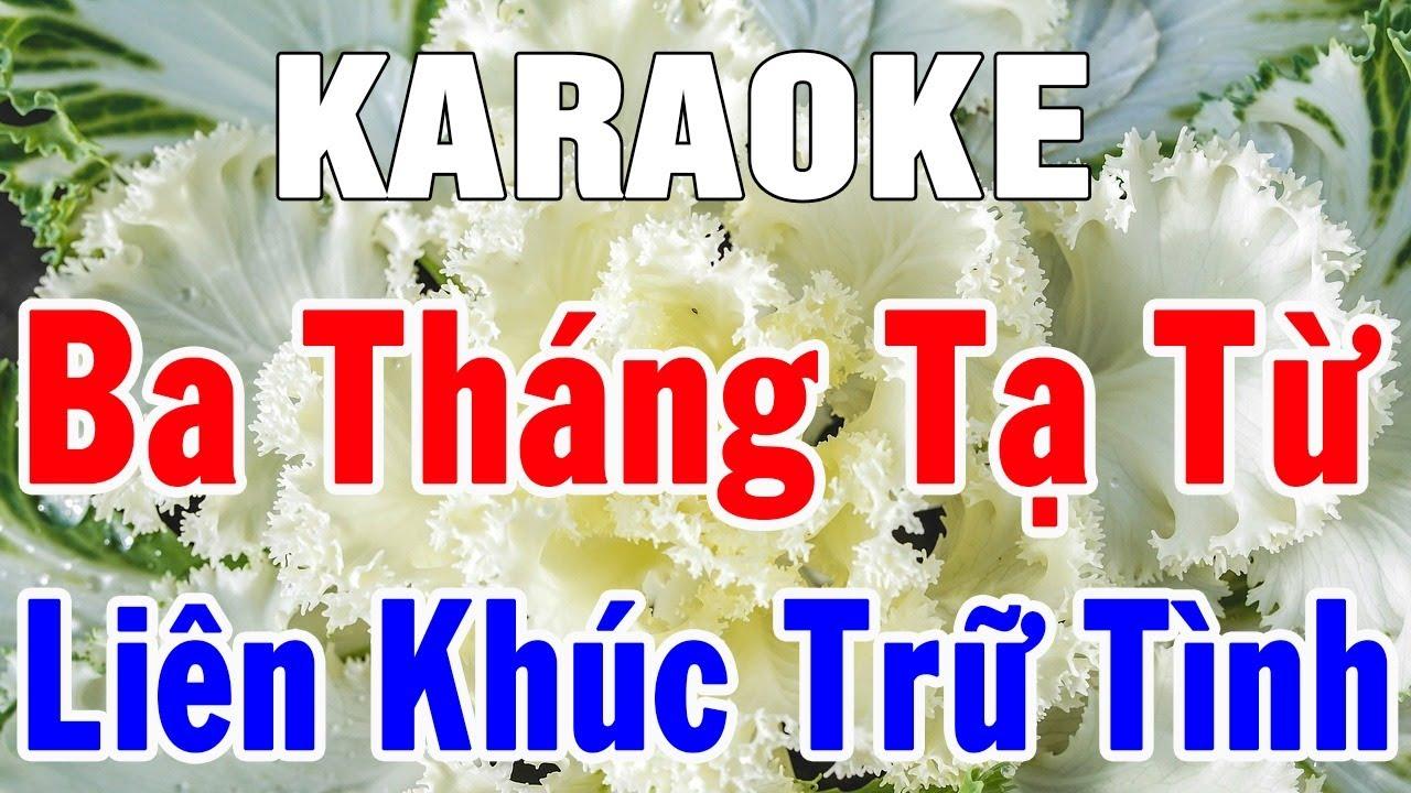 Karaoke Nhạc Vàng Liên Khúc Bolero Hòa Tấu | Ba Tháng Tạ Từ | Nhạc Sống Hay Nhất 2019 | Trọng Hiếu