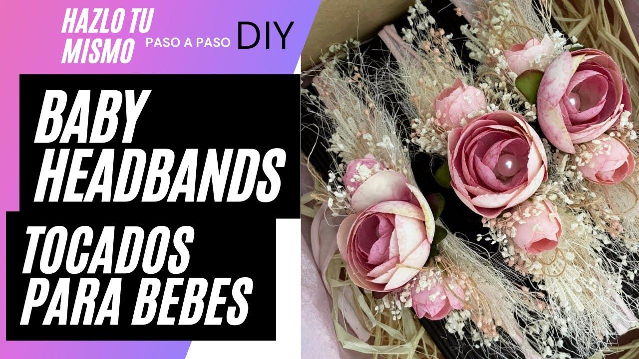 COMO hacer un TOCADO PARA BEBES - DIY Baby Headbands - Newborn Tieback Headband Tutorial