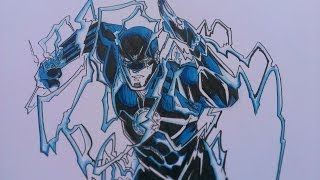Drawing Berry Allan, DC Comics The New 52
