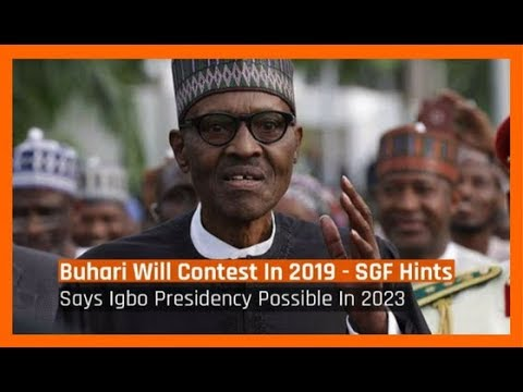 Nigeria News Today: President Buhari Will Contest In 2019 - SGF Hints (29/01/2018)