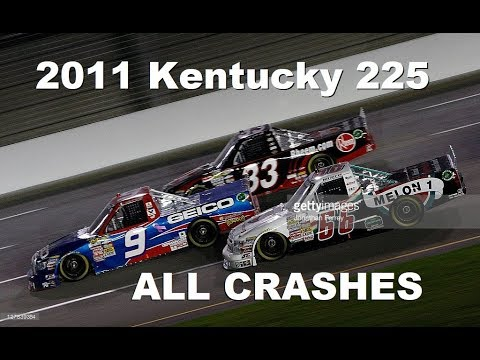 all nascar crashes from the 2011 kentucky 225 youtube