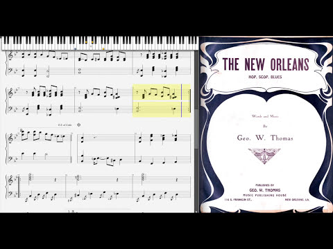 The New Orleans Blues by George Thomas (1916, Blues piano)