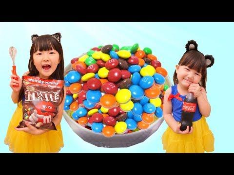 寸劇お菓子作りごっこ!DIY大量のキッズキャンディで子供大好きなおやつ料理を作った DIY Kids Candy  - Hane&Mari'sWorld