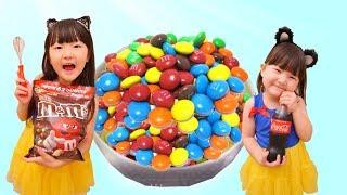 寸劇お菓子作りごっこ!DIY大量のキッズキャンディで子供大好きなおやつ料理を作った  Funny Kids Pretend play DIY Kids Candy | Hane&Mari