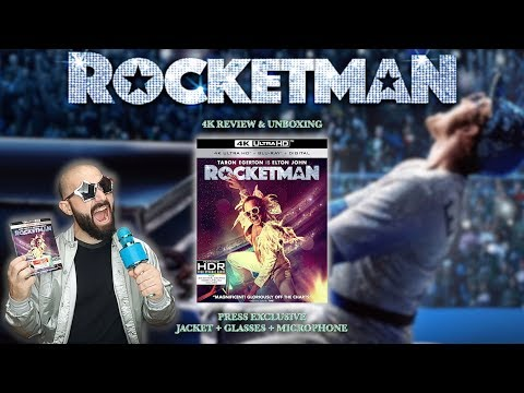 ROCKETMAN - 4K ULTRA HD - REVIEW & UNBOXING (+EXCLUSIVE: JACKET, GLASSES, MICROPHONE) | BLURAY DAN