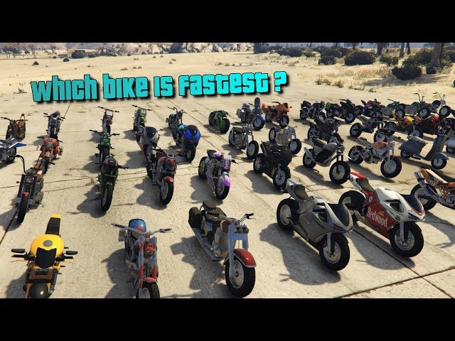 GTA V Online Which is fastest Bike | Its not Oppressor | Top speed