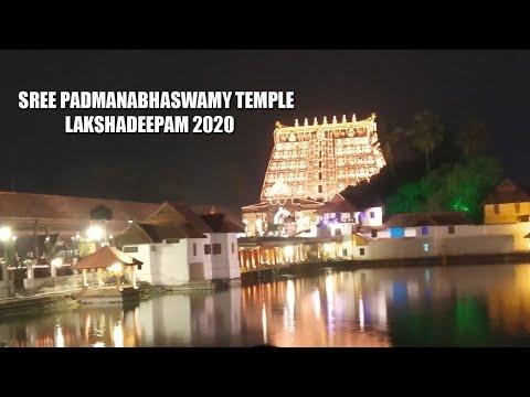 SREE PADMANABHASWAMY TEMPLE LAKSHADEEPAM 2020    CREATIVE PETALS