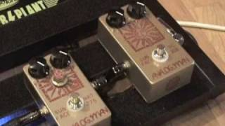 Analogman Sunface fuzz pedal demo comparison of NKT-275 & BC-108 versions