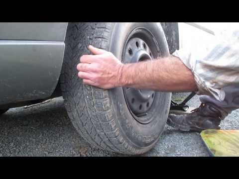 Grinding noise of a worn wheel bearing