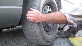 Grinding noise of a worn wheel bearing