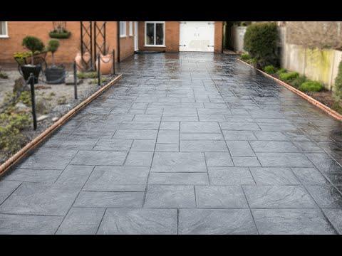 Printed Concrete Driveway >> Dimension Driveways Installing Pattern Imprinted Concrete Driveways