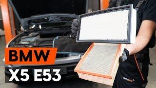 Kā mainīt Gaisa filtrs BMW X5 (E53) - rokasgrāmata