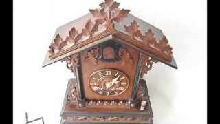 Large Antique Black Forest Cuckoo Mantel Clock Full Working