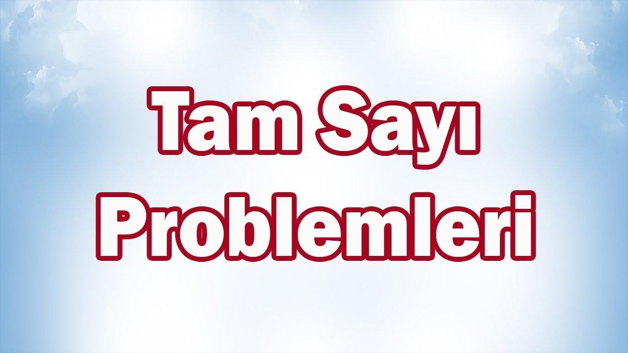 TAM SAYI PROBLEMLERİ-7. Sınıf Matematik | CANLI YAYIN #3