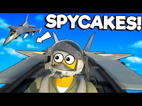 Spycakes & I Crashed Our Jets During a Dogfight! - VTOL VR Valve Index Multiplayer Gameplay |
