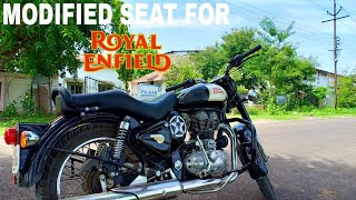 Modified seat for royal enfield   comfortable seat for royal enfield   khajanchi seat