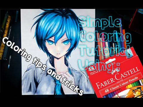 Simple Coloring Tutorial Using Faber Castell Classic Colour Pencils