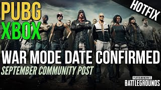 War Mode Date Confirmed for Xbox One (PUBG)