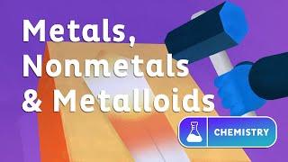 Metals, metalloids & nonmetals