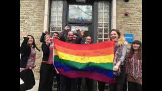 #PurpleFriday - Children 1st sign rainbow flags to support LGBTI rights
