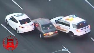 НАРКОМАН НА УГНАННОЙ Тойоте  погоня полиции Лос-Анджелес США 2018