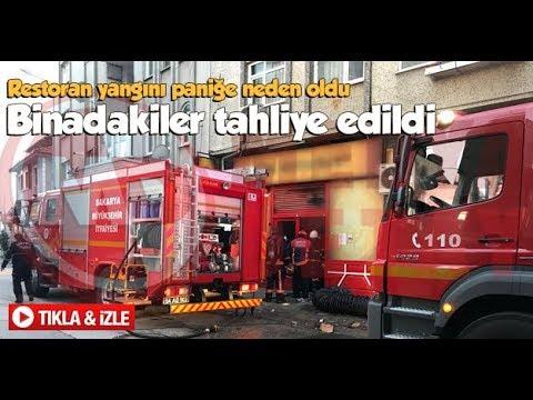 Sakarya'da restoran yangını paniğe...