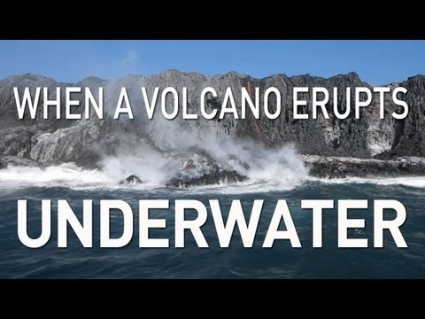 Swim down under Hawaiian waters with PBS Digital Studios' UnderH20 team to watch how lava from the rumbling Kilauea crater bursts into th…