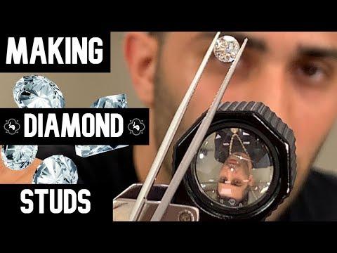 HOW TO MAKE DIAMOND STUDS?