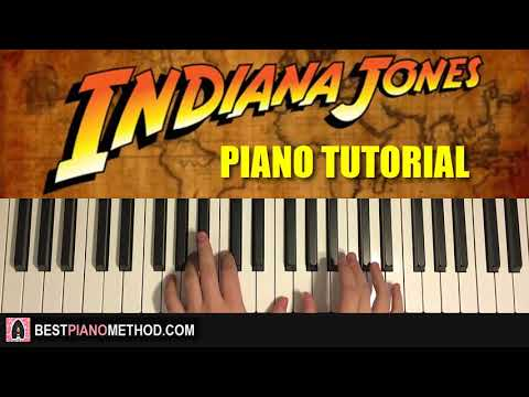 HOW TO PLAY - Indiana Jones Theme - Raider's March (Piano Tutorial Lesson)