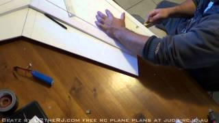 RC Zephyr foamboard wing build