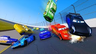 Racing Crash Cars 3 Daytona Lightning McQueen Cruz Ramirez Jackson Storm Chick Hicks & Friends Cars
