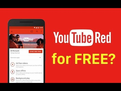 How to get free YouTube red without credit card  ---WITH PROOF the Real Way 2017