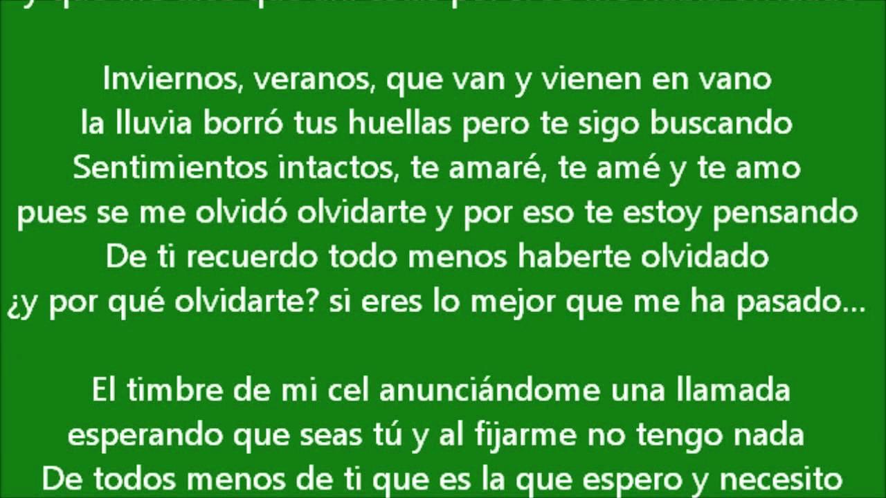 Cancion Para Decirle A Mi Ex Que La Extrano Inviernos Y Veranos