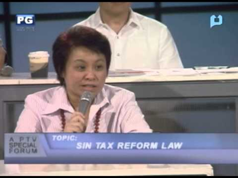 Sin Tax Reform Law (Part 1) - PTV Special Forum - [January 9, 2013]