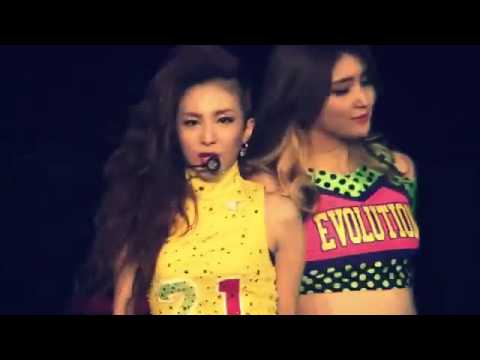 2NE1 2012 1st Global Tour NEW EVOLUTION in Japan  Kiss  Dara solo )