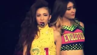2NE1 2012 1st Global Tour NEW EVOLUTION in Japan  Kiss  Dara solo )