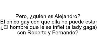 """Lady Gaga: el significado oculto de """"Alejandro"""""""
